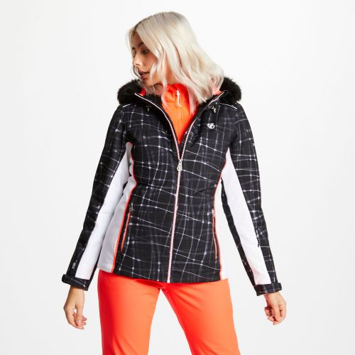 Women's Copious Printed Ski Jacket - Black Energy